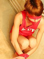 Kyler is bound, blindfolded and...