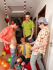 Gay facial video group and outdoor group gay sex fuck at Crazy Party Boys
