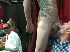 Gay muscle men group sex and male breasts groups at Sausage Party