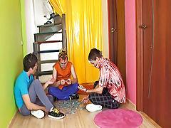 Gay group sex 6 guys and gay gang bangs orgy group sex at Crazy Party Boys