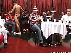 twink and young twinks cuming into condom at Sausage Party