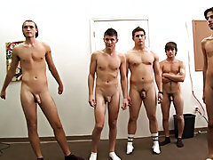 Let's just say these poor pledges had to strip down naked group of straight men ge