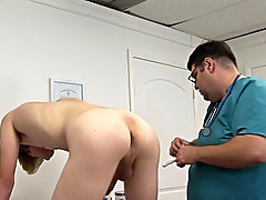 I kept the prostrate stimulator inside his ass for a while and while Corey was still on his all fours with ass up in the climate, I continued stroking