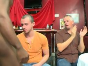 Multiple men group sex and gay fisting group at...