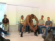 Hot gay guy group sex and male wack off jo group...