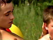 Four lads soon get into some hot sex outside when they move away from the lake side, taking their inflatable with them naked outdoor guys